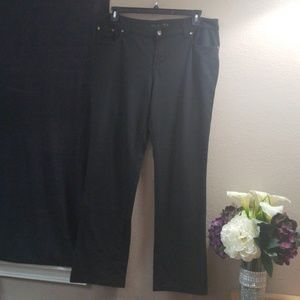Casual jean-style black dress pants